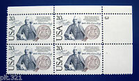 Sc # 2036 ~ Plate # Block ~ 20 cent US-Sweden Issue (db4)