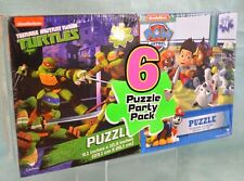 6 PC Nickelodeon NINJA Turtles Paw Patrol Blaze PARTY Pack PUZZLES Puzzle NEW