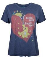 Junk Food Care Bears Feeling Good Women's Cropped T-Shirt