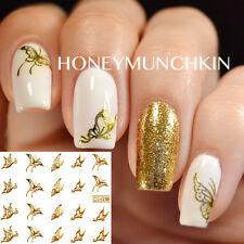 1 Sheet Gold Nail Art Sticker Autocollant De Filigrane Ongle Décoration Papillon