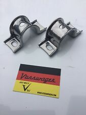 VW GOLF JETTA CADDY CABRIO MK1 FRONT WISHBONE LOWER ARM BRACKETS CHROME GENUINE