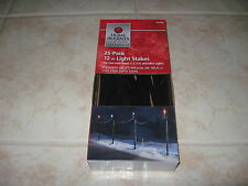 NEW HOLIDAY 25 PACK 12 INCH LIGHT STAKES OUTDOOR CHRISTMAS #244 263