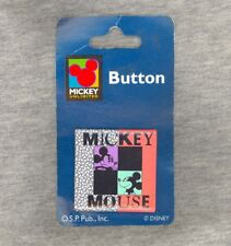 NEW-ON-CARD Mickey Mouse Square Pin - One Stop Publishing Mickey Unlimited 1990s