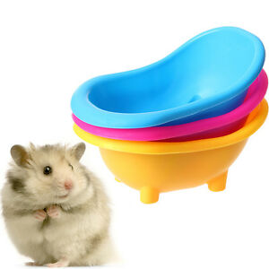 1x Small Hamster Gerbils Pets Bathtub Bath Sand Room Bathroom Bathing Case