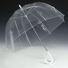 Gran Transparente Domo ver a través de Paraguas Mango Transparente caminar Brolly señoras