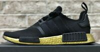 ADIDAS NMD R1 SHOES CORE BLACK METALLIC GOLD FW7572 NEW MENS NMD_R1