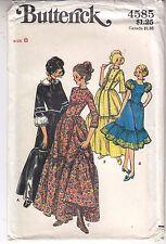 Frontier Costume Prairie Country Civil War Sun Bonnet Butterick Sew Pattern Sz 8