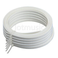 5 Pcs Guitar Bindings Purfling Strips Luther Supply 1650 x 4 x 1.5mm ABS White