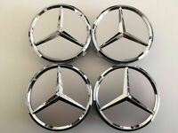 4x 75mm Silber Radmitte Radkappe Abzeichen Emblem Felgenabdeckung Mercedes Benz