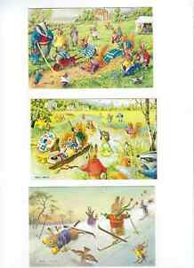 THREE COLLECTABLE CHILDREN'S POSTCARDS BY THE ARTIST RACEY HELPS