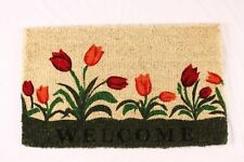 Welcome Tulip Natural Coco Doormat, 18 by 30 by 1-Inch
