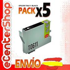 5 Cartuchos de Tinta Negra T0611 NON-OEM Epson Stylus DX4800