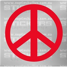 PEACE SIGN DECAL 180mmx180mm 15 COLOURS TO CHOOSE FROM MPN 302