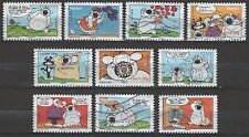 France 3235-3244 Cubitus Comics [10 USED Stamps] Issued 2006