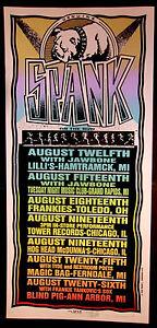 Rare Mark Arminski Spank August 1995 Silkscreen Concert Poster