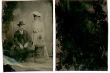 TIN TYPE WELL DRESSED COUPLE