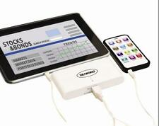 Dual Smart Phone Charger Ultra Power Tablets E Book Readers Rechargeable USB NEW