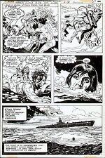 1978 UNKNOWN SOLDIER #219 FROGMAN DC COMICS ORIGINAL ART PAGE CLASSIC WAR TITLE