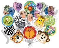 25 pc Ultimate Jungle Balloon Bouquet Happy Birthday Lion Giraffe Zebra Leopard