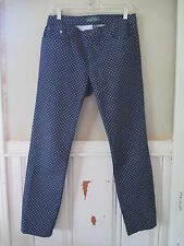 LRL Ralph Lauren Jeans Womens 6 Modern Straight Blue with White Dots