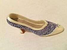 Miniature Collectible Purple and White High Heel Shoe