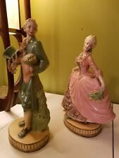 Antique Victorian Man and Woman Statue Figurine