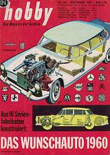 hobby, Das Magazin der Technik 10/1959 Oktober,DKW Junior,Job 5,Segler Fauvel