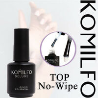 Komilfo TOP No-Wipe No UV filters 15ml. - For Gel Polish - Soak off Gel LED / UV