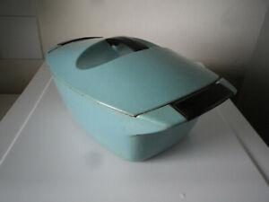 COCOTTE LE CREUSET RAYMOND LOEWY couleur bleu 1960 VINTAGE 4.5 LITRES