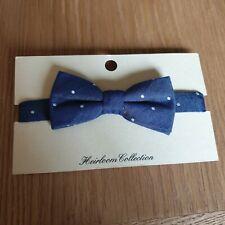 John lewis Heirloom Bow Tie Boys Denim Pin Spot  S/M