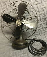 Wow Vintage 1920s black Westinghouse Electric Desk Fan Style No. 868462 Works