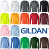 GILDAN MEN'S T-SHIRT LONG SLEEVE TOP THICK ULTRA COTTON CUFFS CASUAL NEON OFFER