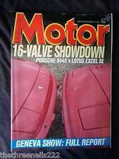 MOTOR MAGAZINE - GENEVA SHOW - MARCH 14 1987