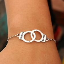 NEW Silver Chain handcuffs Bracelet For Women Jewelry Charm Bracelets Bangles