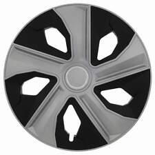 """4 x Radkappen LUNA RING 15"""" Zoll Silver & Black Radzierblenden VW,SEAT,SKODA,"""