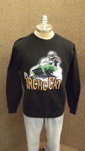 Vtg Arctic Cat ZR Series Snowmobile Sweatshirt sz Lrg