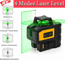 Kaiweets 360 Rotary Green Laser Level Self Leveling 7 Modes Cross Line 197ft