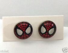 Spider-man earrings NEW perfect 10mm round studs Amazing Spiderman jewellery