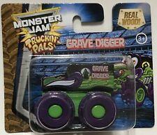 Monster Jam Truckin' Pals Grave Digger Real Wood Brand New