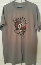 Port and Company GASOLINE COFFEE Skull Graphic Designer T-Shirt Tee Unisex  L