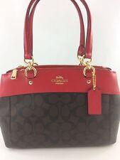 New Coach F26139 Mini Brooke Carryall Satchel Handbag Purse Shoulder Bag Red