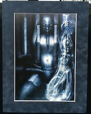 "HR Giger ""The Courier's Widow"" Work612 1988 Suede Matted Mounted Print Acid Free"