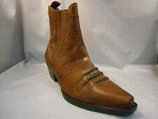 Earth Spirit Brown Leather Western Ankle Boots Women's Size 6 M