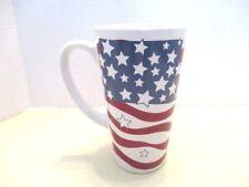 Large Americana Red White Blue Ceramic Mug World Bazaar