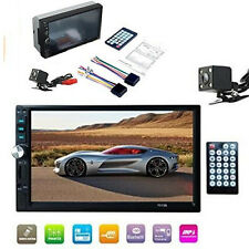 """7"""" 2DIN Car FM/MP5/MP4 Player GPS Bluetooth Touch Screen Stereo Radio HD +Camera"""