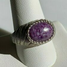 Stunning ~ Judith Ripka ~ Sterling 925 ~ Oval Purple Charoite Ring ~ Size 11