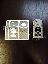 Carbono antracita Lámina Llave Mazda RX8 NC 2 3 5 6 MX5 SL CX 7 CX 9 uvm
