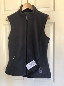 Spyder Full Zip Fleece Mens Essential Vest Size Small. Gray NWT