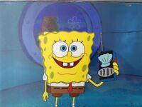 Nickelodeon TV SpongeBob Museum Animation Art Background Cel Set Up #U5