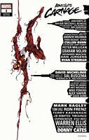 🔥🕸ABSOLUTE CARNAGE 1 MARK BAGLEY EXCLUSIVE SKYLINE VARIANT VENOM SPIDERMAN COA
